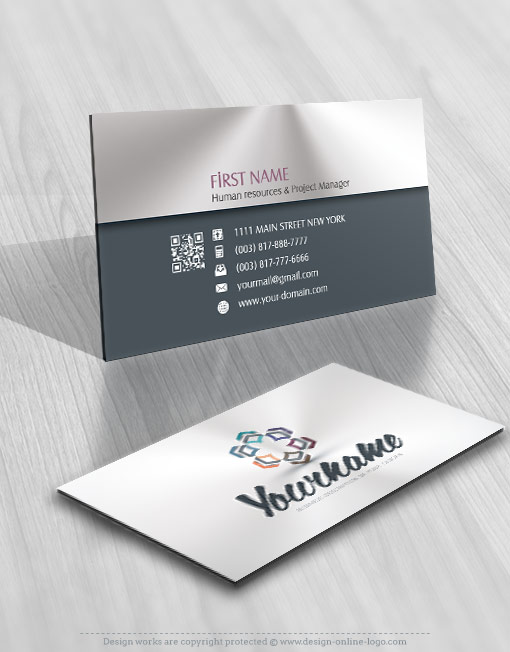 Ready made online Logo Design 3d free business card