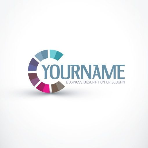 Ready made online Logo Design with 3d abstract colorful logotype