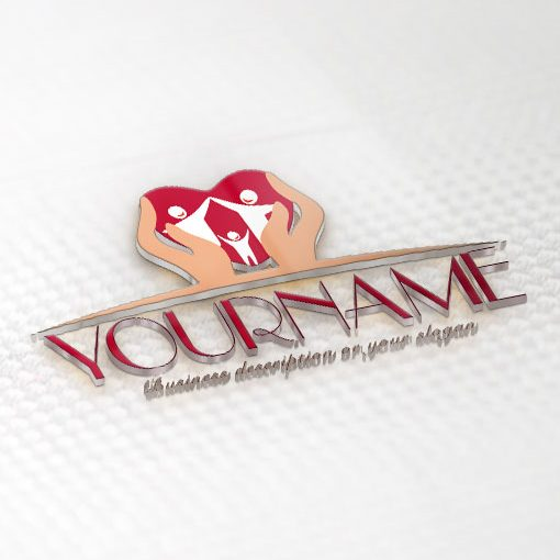 3D online Family Logo Design FREE Business Card