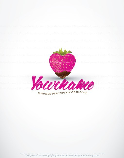 sweet Heart chocolate strawberry design online logos