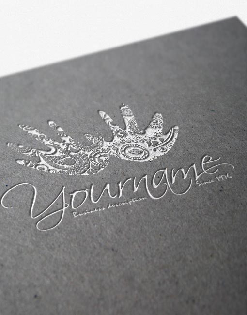 Exclusive Hands decorations logo Design FREE Business Card