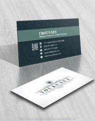 Elegant clean decorations logo FREE Business Card