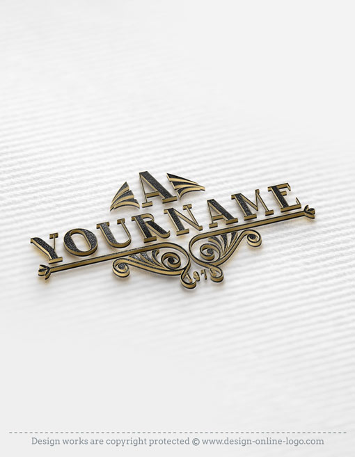 Initial decorations logo FREE Business Card