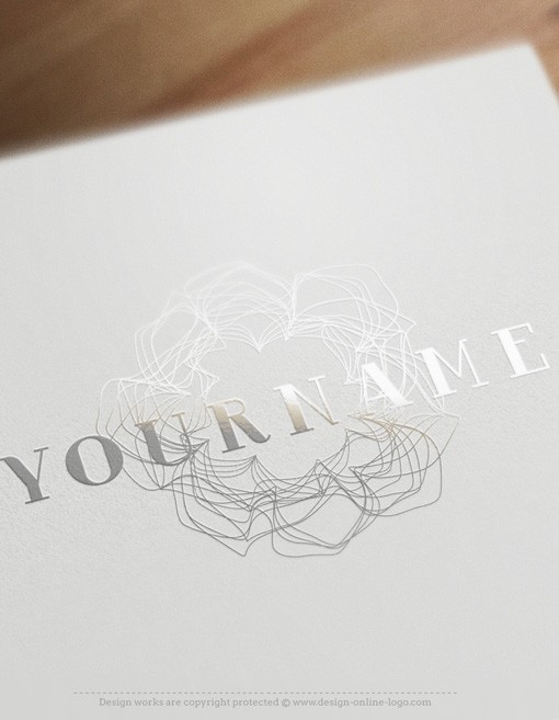 Clean lines flower Logo FREE Business Card