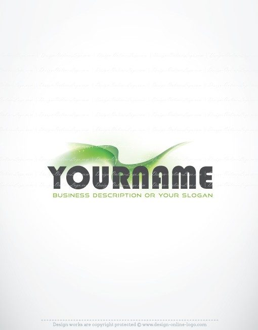 Ready made online Logo design with the symbol of Abstract green energy wave
