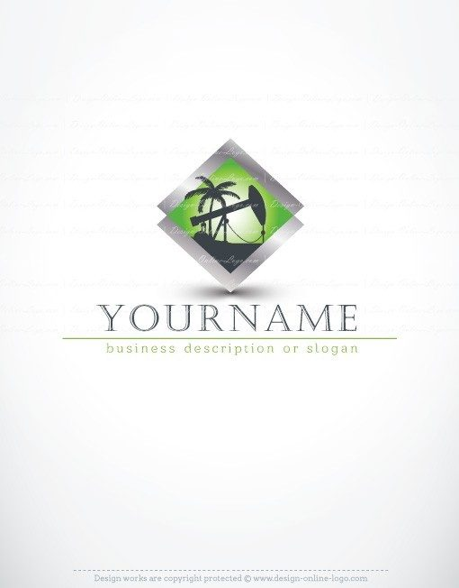 Ready-made online Logo design with Petroleum Oil drilling.