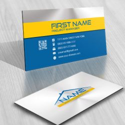 Real Estate House Logo FREE Business Card