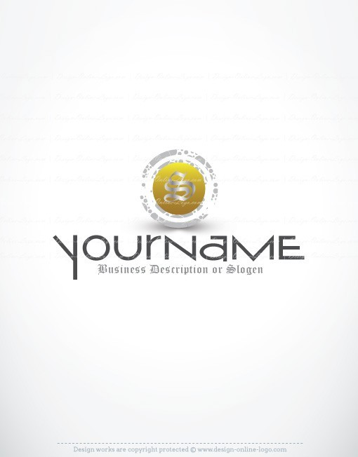 Golden initial Logo design