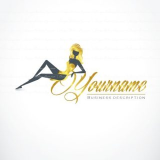 Sexy Woman Logo gold