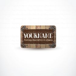 Ready made online Logo design with the Elegant wood frame