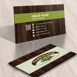 Olive wood Logo Design FREE Business Card
