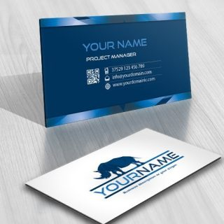 Rhino Logo FREE Business Card