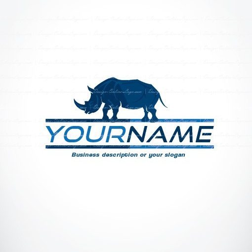 Online Logo design with Blue Rhino