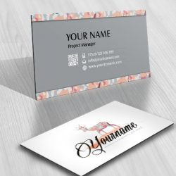 Ready made Logo design Reindeer business card