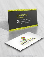 online Logo design colorful bird Parrot business card free