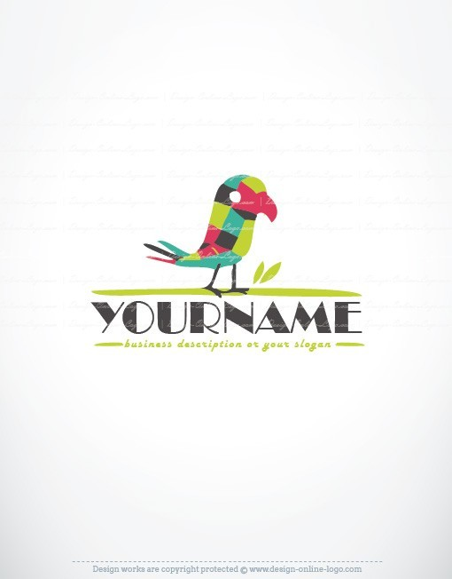 online Logo design colorful bird Parrot