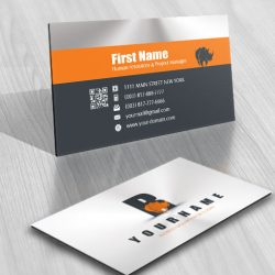business card Logo design Alphabet initial Rhino