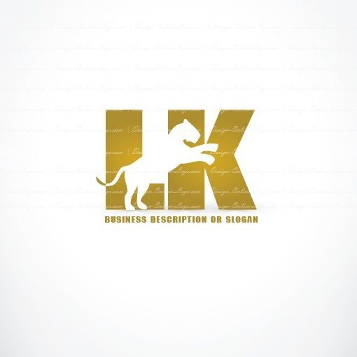 Online Ready made Logo design initial Lioness