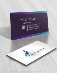 Water Bird Logo Business Card