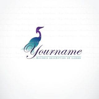 Logo design Flamingo Stork Bird