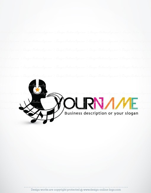 exclusive design  dj music logo   free business card