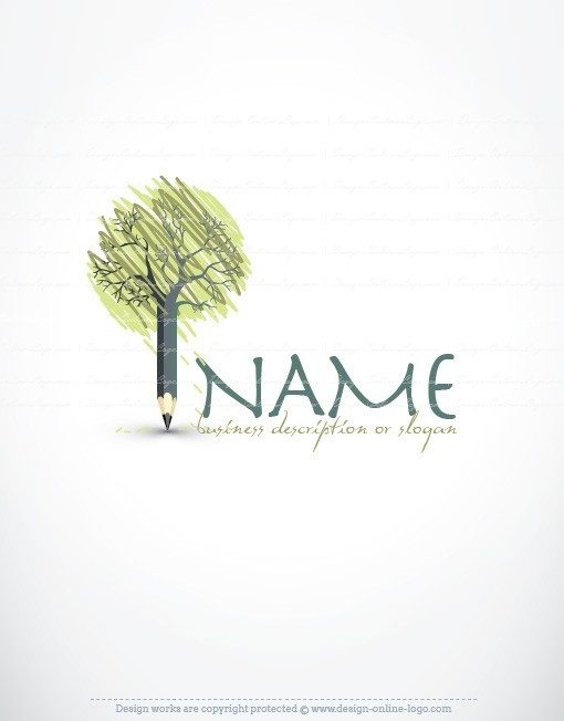 Tree Pencil Logo for sale online