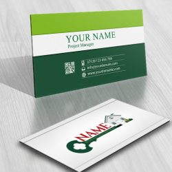 3052-house-key-realty-logo-business-card-design