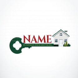 3052-online-house-key-logo-design-templates