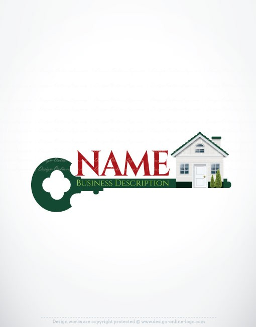 Exclusive design house key logo free business card for House logo design free