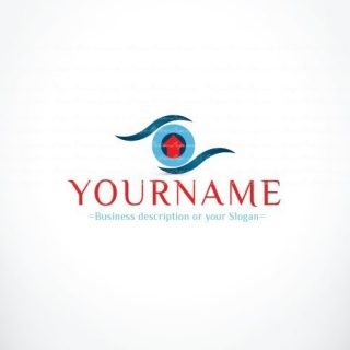 3112-Real-Estate-Search-Eye-logo-design-template