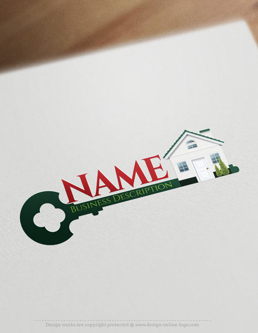 exclusive design  house key logo   free business card