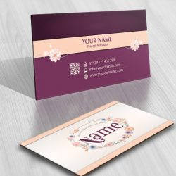 Flowers Frame logo design online FREE Business Card
