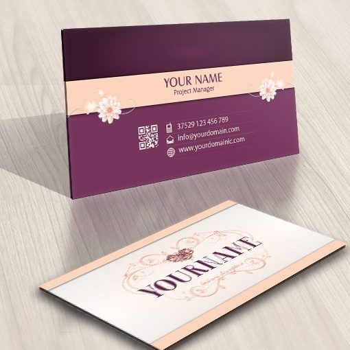 Design Flower Frame logo business card free