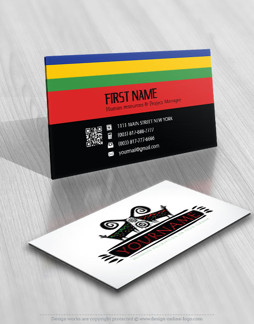 Design Africa animal Logo FREE Business Card