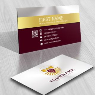 Grapes Winery Logo FREE Business Card