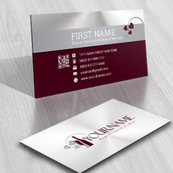Vine Wine Logo Design FREE Business Card