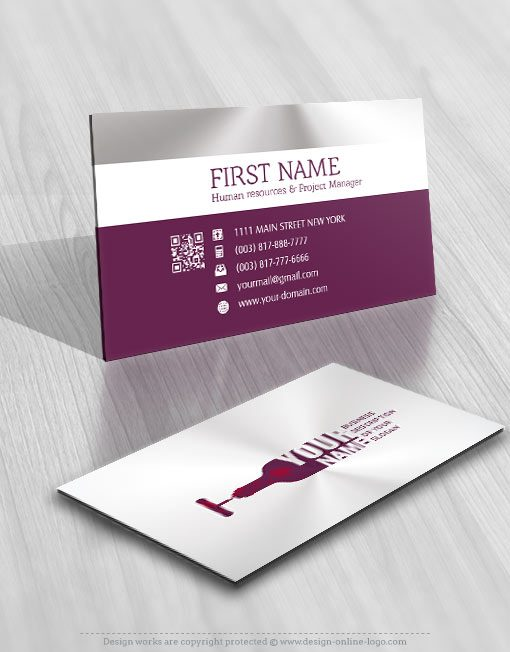 Wine Bottle Logo FREE Business Card