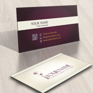 Wine Vine Logo FREE Business Card Design