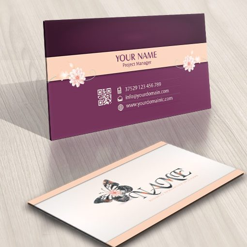 Butterfly decorations Logos FREE Business Card