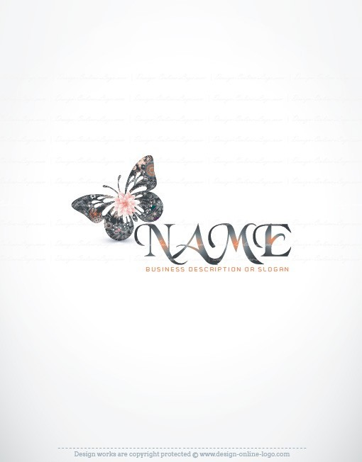 Ready made Butterfly logo design Colorful decorations