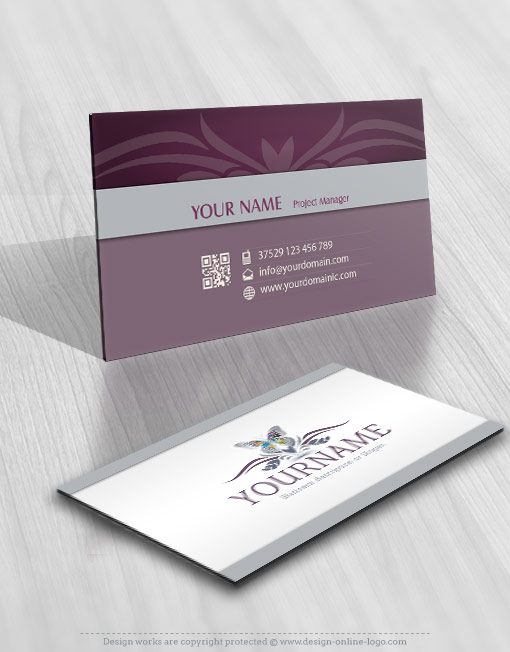 Ready made Butterfly logo design card design