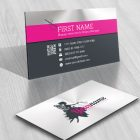 Magic Wand Fairy Logo Business Card design