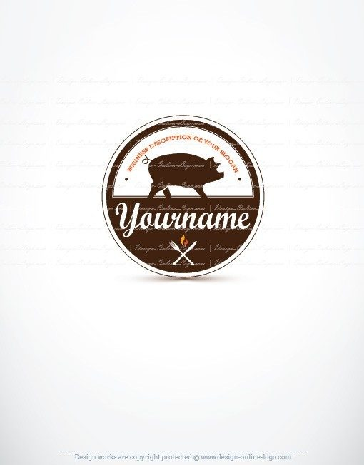 Pork Pig Logo for sale