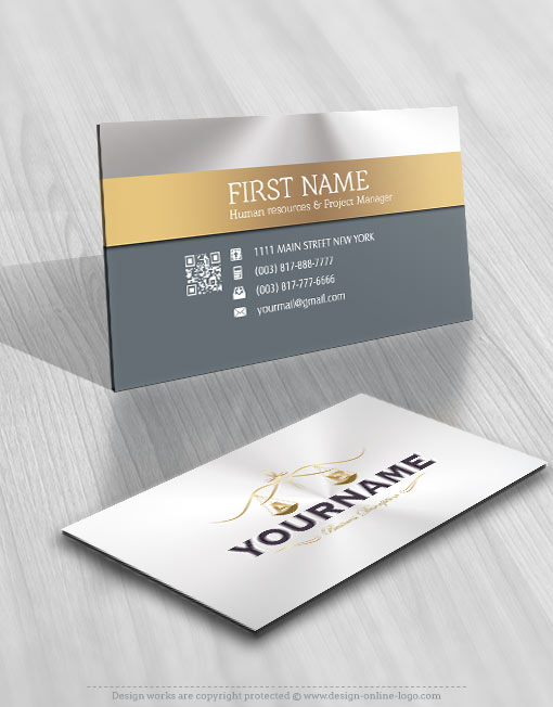 Exclusive design luxury law firm logo free business card online law firm logo free business card reheart Gallery