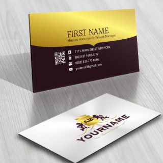 Crest lion Logo FREE Business Card