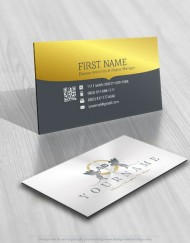 Crest Horse Logos FREE Business Card