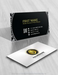 Lion Gold Stamp Logo FREE Business Card
