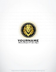 Ready made Online logo design lion head