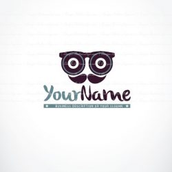Vintage man glasses Logo