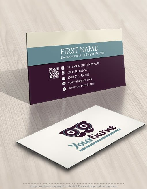 Vintage man eye glasses Logo FREE Business Card